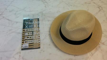 キャップライナーと帽子